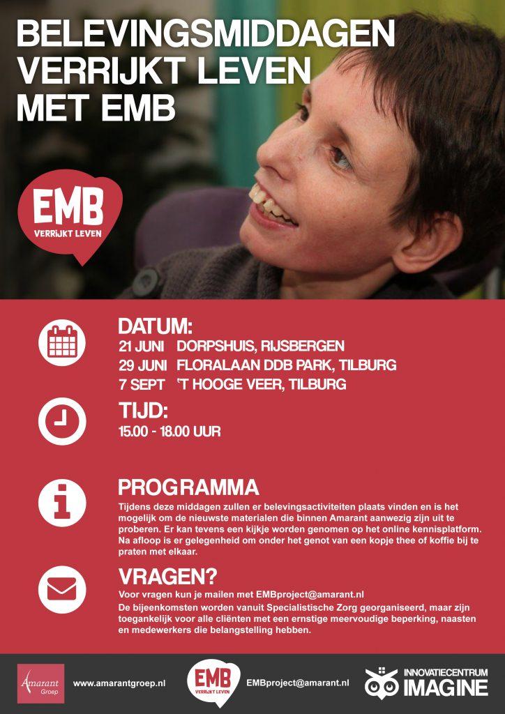Flyer EMB verrijkt leven, Amarant groep, innovatiecentrum imagine,