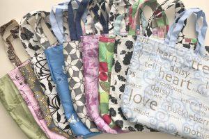 Maken van duurzame tassen onder het wereldwijde label van Green Bag Lady